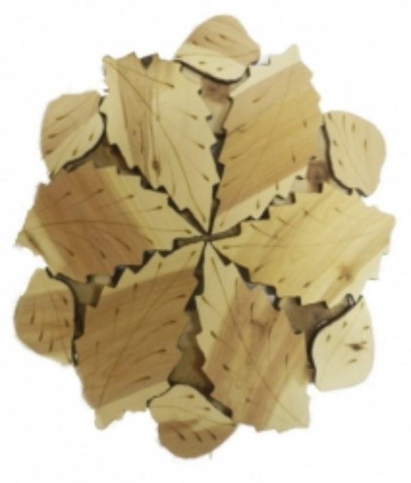 Подставка из дерева - березка D 22 cm